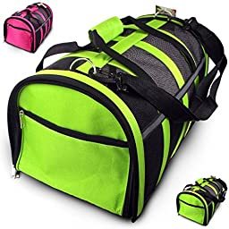 Trip Essentials Under-Seat, Folding Airline Pet Carrier (Green)