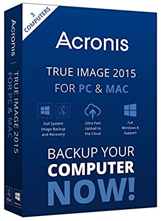 Acronis True Image 2015 for PC and Mac - 3 Users