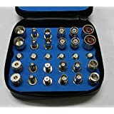 30PCS Universal RF Coaxial Connector Adapter Kit N TNC SMA BNC UHF Mini-UHF