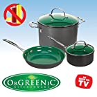 Telebrands Orgreenic 5-piece Cookware Set
