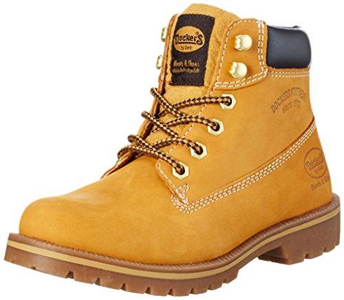 dockers-by-gerli-damen-35aa203-300910-combat-boots-gelb-golden-tan-910-39-eu