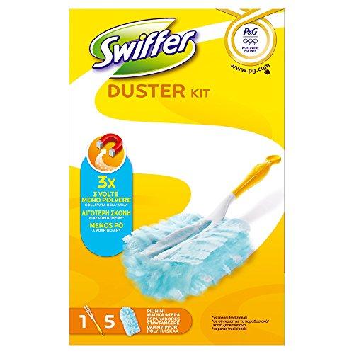 Swiffer Duster Kit Spolverino con 5 Panni di Ricambio