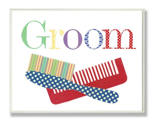 The Kids Room Groom Comb Brush Wall Plaque