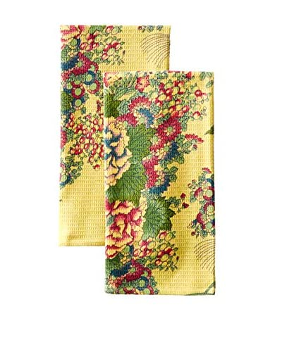 April Cornell Set of 2  Chinese Tea Towels, Chartreuse
