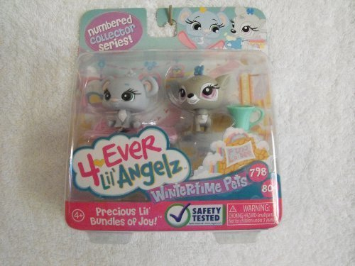 4 Ever Lil' Angelz Numbered Collectors Series Wintertime Pets #798 & 804