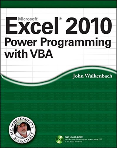 Excel 2010 Power Programming with VBA (Vba Programming 2010 compare prices)