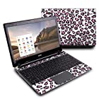 Leopard Love Design Protective Decal Skin Sticker (High Gloss Coating) for Acer C7 C710-2847 Chromebook