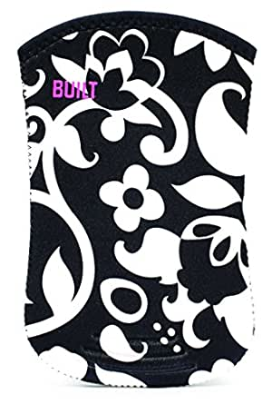 BUILT - Funda/calcetín de neopreno para Kindle, color negro con vid blanca (sirve para Kindle Paperwhite, Kindle y Kindle Touch)
