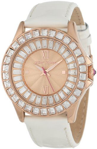Betsey Johnson Women's BJ00004-07 Analog Patent Leather Strap Watch