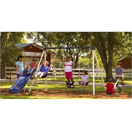 Flexible Flyer Triple Fun II Metal Swing Set (Swing Sets For Kids compare prices)