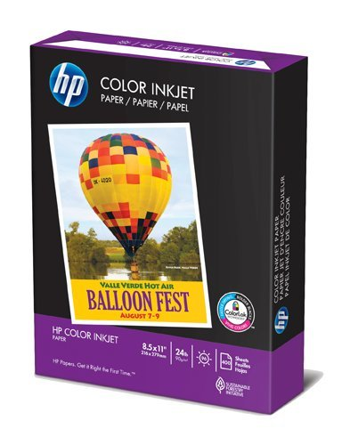 HP Color Inkjet Paper, 24 Pound, Uncoated, 96-Plus