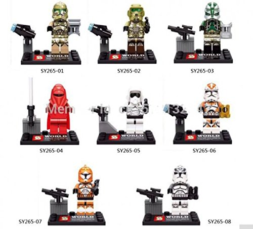 Clone Star Trooper Star Wars Minifigures Death Star Royal Guard Building Blocks Sets Bricks Kid's Toy 8pcs/lot #265-04