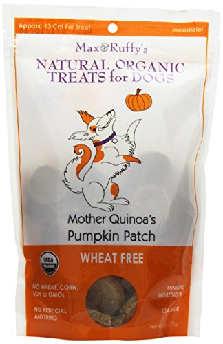 Max & Ruffy'S Mother Quinoa'S Pumpkin Patch Organic Wheat Free 8-Ounce Dog Treats, Original Bites