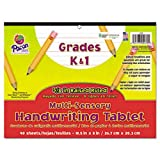 "Sensory Writing Tablet, 8""x10-1/2"", 40Shts/PK, White, Sold as 1 Pad"