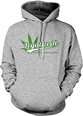 Weed Smoking Hoodie Legalize It Yes We Cannabis Mens Hooded Sweatshirt S-3XL