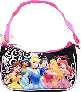 Disney Princess Purse Handbag - Featuring Belle, Jasmine, Snow White and Ariel; Great Gift Idea For Girls (Kids and Children's Tote Hand Bag) from GDC