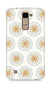 AMEZ designer printed 3d premium high quality back case cover for LG K10 (circular pattern)