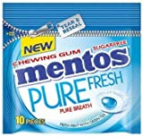 Mentos Pure Fresh Chewing Gum - Fresh Mint - Pack of 12