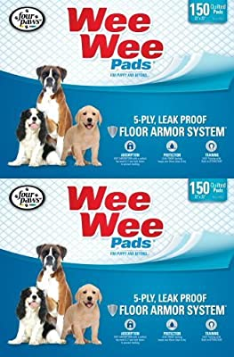 Four Paws 300pk Box 22x23 Wee Wee Pads