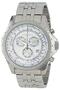 Akribos XXIV Men's AK517WT Ultimate Large Chronograph Bracelet Watch