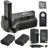 Battery Grip Bundle F/ Nikon D5500: Includes Vertical Battery Grip 2-Pk EN-EL14 Long-Life Batteries Charger More