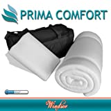 Prima Comfort Travel Memory Foam Mattress Topper plus Pillow-The Windsor-7 DAY MONEY BACK GUARANTEE!!! includes Memory Foam Travel Pillow & holdall bag! (Mattress 190cm x 70cm x 3.5cm) Coolmax cover