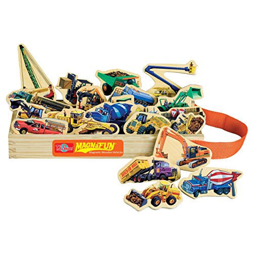 TS-Shure-Construction-Vehicles-Wooden-Magnets-20-Piece-MagnaFun-Set