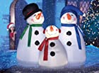 Lighted Snowman Trio Inflatable Yard Decoration