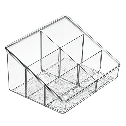 InterDesign Rain Cosmetic Organizer for Vanity Cabinet to Hold Makeup, Beauty Products - Clear (Countertop Organization compare prices)