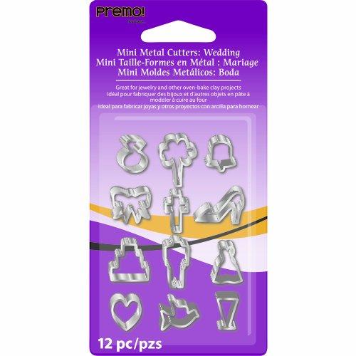 Sculpey AMM1015 12-Piece Wedding Premo Metal Cutters , Mini