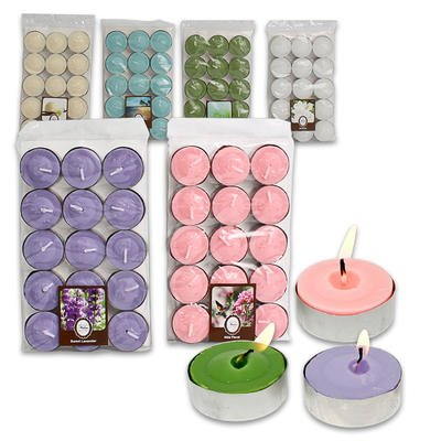 1 piece of 15ct Wax Scented Tealight Candle Set - 6 Assorted Color (Random Selection)