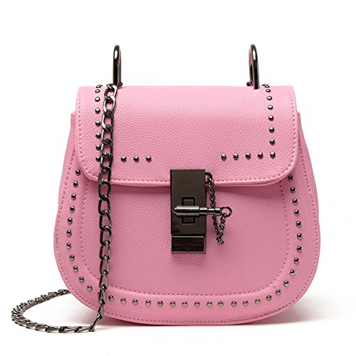 Easy Love Donna Tracolla A Catena Saddle Crossbody Borsa Borsetta Borsa A Tracolla