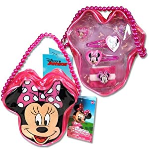 Disney Minnie Mouse Bowtique Accessory Set Purse with Beaded Handle by Disney