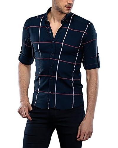 Philip Loren Camisa Hombre Azul Oscuro