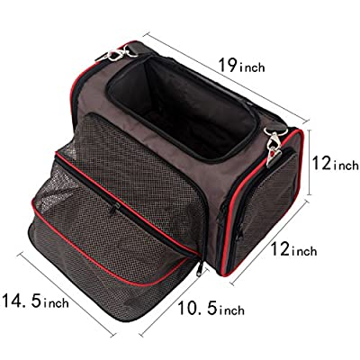 Expandable Foldable Washable Travel Carrier, Airline Approved Pet Carrier Soft-sided