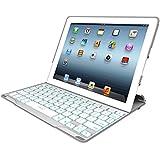 ZAGG  PROfolio+ Ultrathin Case with Backlit Bluetooth Keyboard for iPad 2/3/4-White