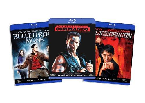 Blu-ray Action Bundle, Vol. 2 (Kiss of the Dragon / Bulletproof Monk  / Commando ) (Amazon.com Exclusive)