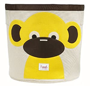 3 Sprouts Organic Storage Bin, Monkey