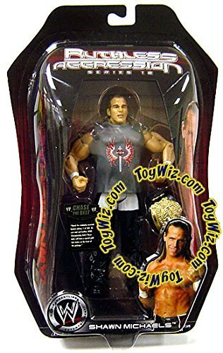 SHAWN MICHAELS - WWE Wrestling Ruthless Aggression Series 18 Toy Action Figure with Undisputed WWE Championship Title Belt by Jakks by Jakks Pacific (Wwe Undisputed Championship Belt compare prices)