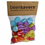 Save Brands Beer Saver Silicone Rubber Bottle Cap (54 Pack), Multicolor