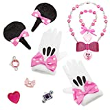 Disney - Minnie Mouse Costume Accessory Set for Girls - Includes ears, hair clips, rings, necklace, bracelet and gloves