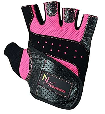 Gel Gloves Fitness Gym Wear Weight Lifting Workout Training Cycling Ladies/Women's by NORMAN INTERNATIONAL