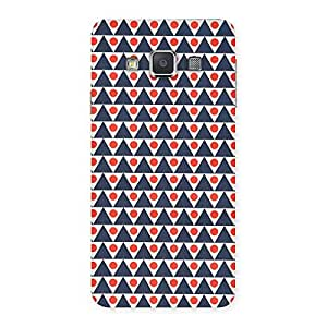 Stylish Inverted Triangle Print Back Case Cover for Galaxy A3