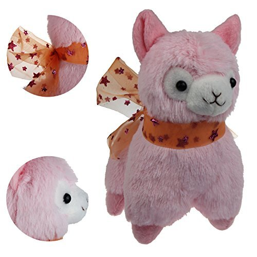 "KSB 7.3"" Pink Small Cute Soft Stuffed Plush Alpaca Cushion Toy Doll,Best Birthday Gifts For The Children Kids Over 3 Years-1 PCS"