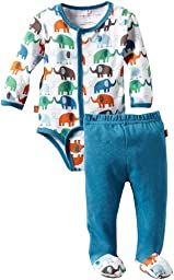 Magnificent Baby Baby-Boys Newborn Elephant Long Sleeve Burrito And Pant Set