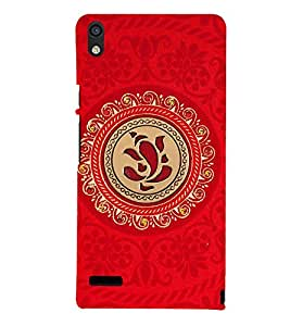 printtech Lord God Ganesha symbol Back Case Cover for Huawei Acend P6