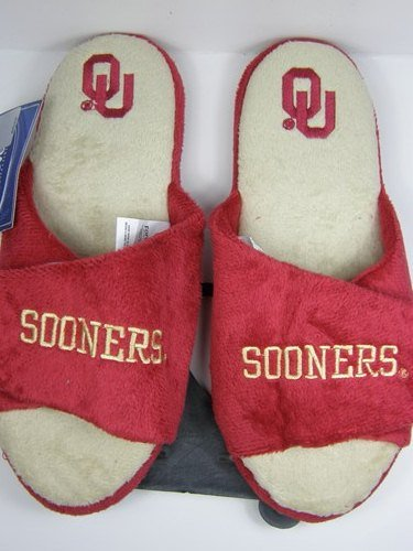 Image of Oklahoma Sooners 2011 Open Toe Two Tone Hard Sole Slippers (B006KYSUHK)