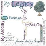 Karen Foster Design 12x12 Rub Ons-My Legacy