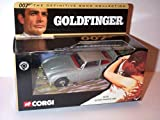 Corgi james bond goldfinger aston martin DB5 car the definitive collection 1.36 scale diecast model