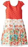 Ruby Rox Big Girls' Short Sleeve Dress with Border Print